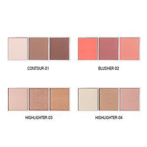Image 2 - SACE LADY Highlighter paleta de maquillaje, contorno en polvo, bronceador facial mate, colorete pigmentado, paleta cosmética, venta al por mayor
