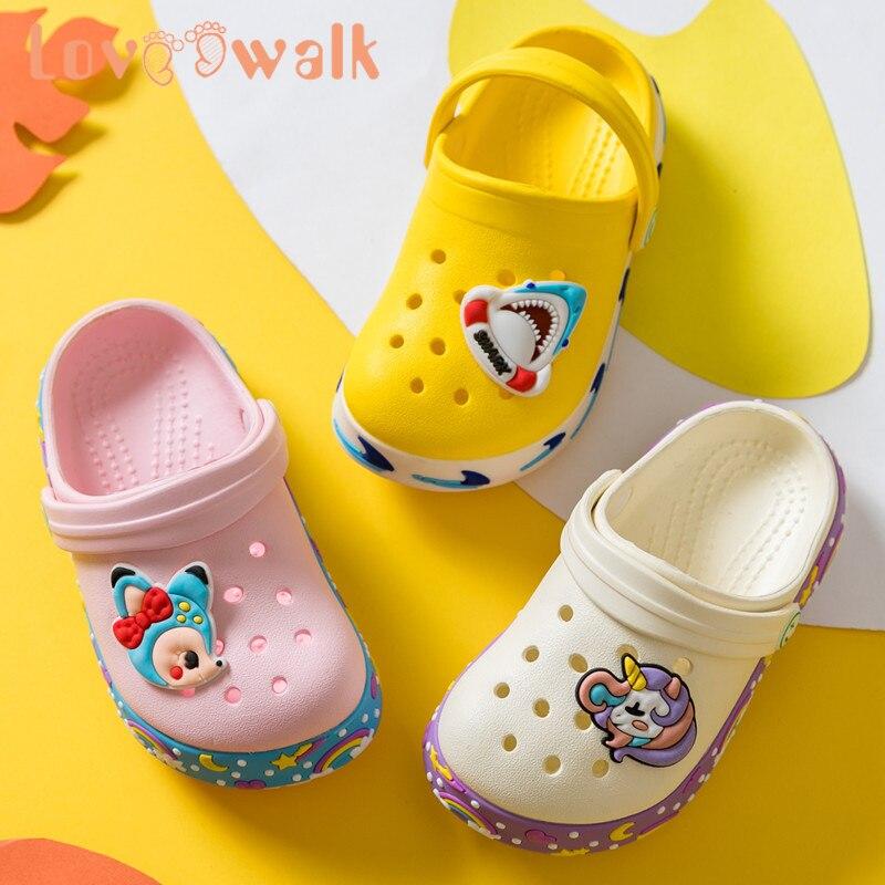 Children Shoes Clogs 2020 Summer Kids Slipper Boys Sandals Flip Flops Anti Slip Soft EVA Kids Slipper Fashion Beach Sandals Kids