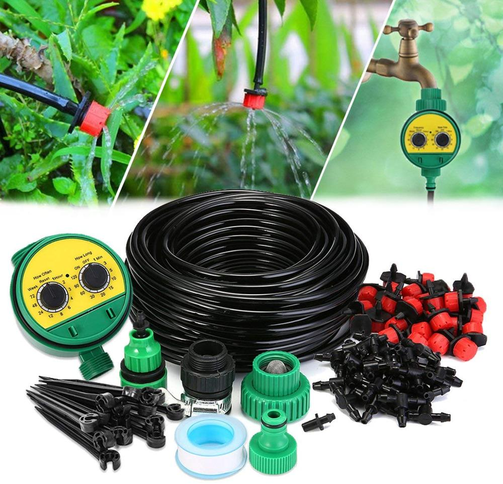 25M Automatic Micro Home Drip Irrigation Watering Kits System Sprinkler With Smart Controller For Garden,Bonsai Indoor Use