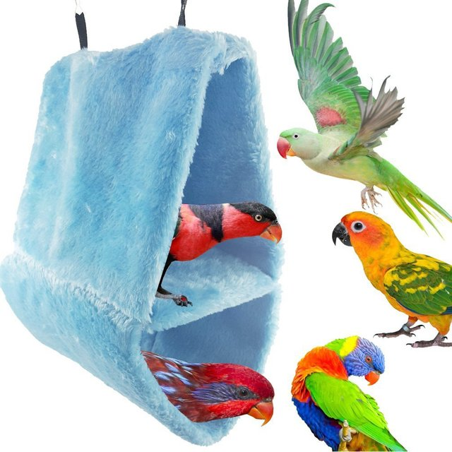 Large Size Double Layer Fleece Nest Parrot Bird's Nest Warm Cotton Pet Nest Cotton Hammock Triangular Fossa Large Cage 1