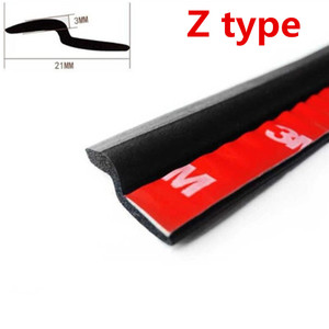 Image 5 - 6M Car Door Seal Strip Rubber Big D Type Z Type P Type Waterproof Trim Sound Insulation Anti Dust 6 Meters Car Styling seal