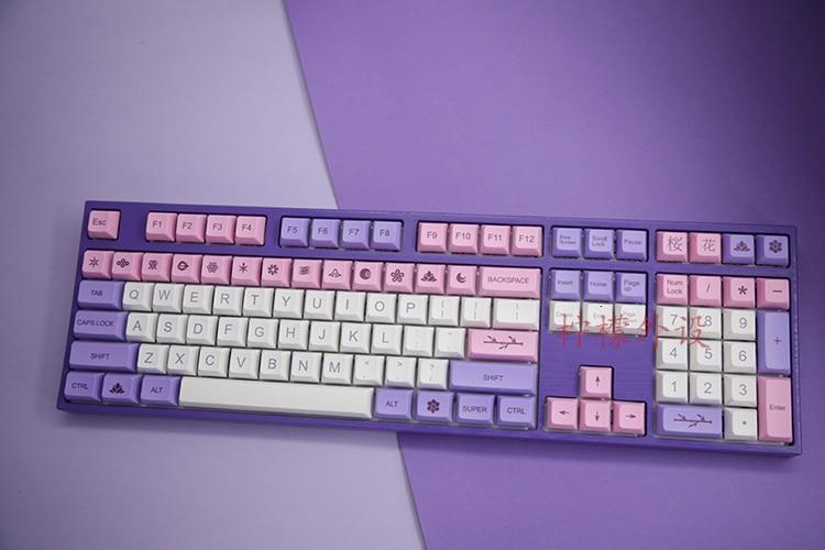 1 Set PBT Dye Sublimation Keycap Mechiancal Keyboard XDA Profile Additional Key Caps For Hana