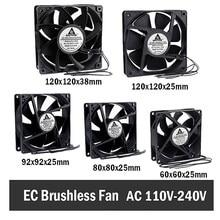 Gdstime EC Brushless Cooling Fan AC 110V 120V 220V 240V Ball Bearing Axial Fan 60MM 80MM 90MM 120MM