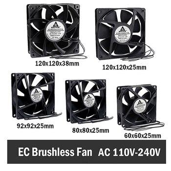 Gdstime EC Brushless Cooling Fan AC 110V 120V 220V 240V Ball Bearing Axial Fan 60MM 80MM 90MM 120MM 1pcs dual ball 60mm 6cm 60x60x25mm ec brushless fan ac 110v 115v 120v 220v 240v axial fan 6025 industry cooler
