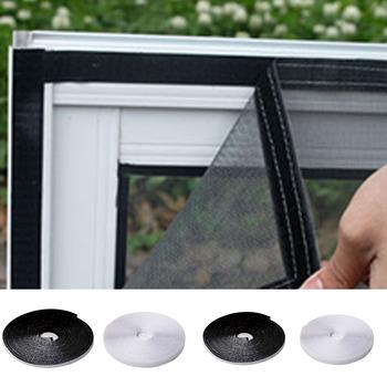 Taśma samoprzylepna 6mm x 5 6m na okno na komary netto Velcros klej do majsterkowania tanie i dobre opinie houseeker Drzwi i okna ekrany Hook Loop Zapięcie AM198z Włókno poliestrowe