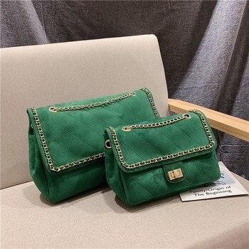 2019 Concise Chain Satchel Female Bags Capacity Single Shoulder