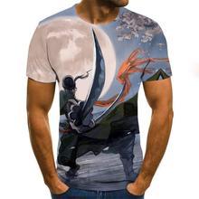 Letnia koszulka 3d nadruk anime casual męska i damska koszulka hiphopowy T-shirt Harajuku fashion T-shirt męski tanie tanio Krótki O-neck tops Tees Regular sleeve Suknem Poliester Na co dzień Drukuj