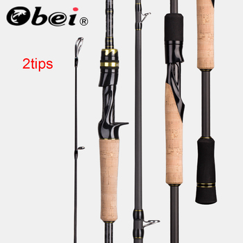 Obei Elf Casting Spinning Fishing Rod1.8 2.1 2.4m M/MH Travel Street Bait Double Tips Fast Rod Vara De Pesca Fishing Rod