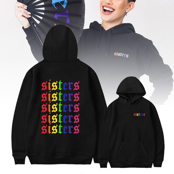 Details About James Charles Hoodie SISTERS Rainbow Hoodie  James Charles Merch Unisex Hoodies Harajuku Sweatshirt Tracksuit