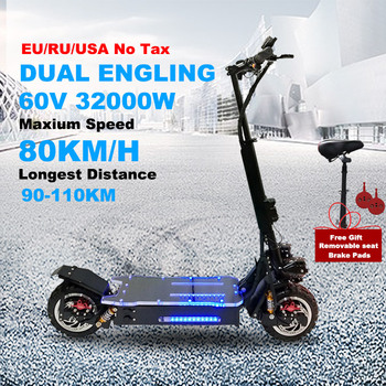 Patinete eléctrico todoterreno de 11 pulgadas para adulto, 60V, 3200W, Motor eléctrico...