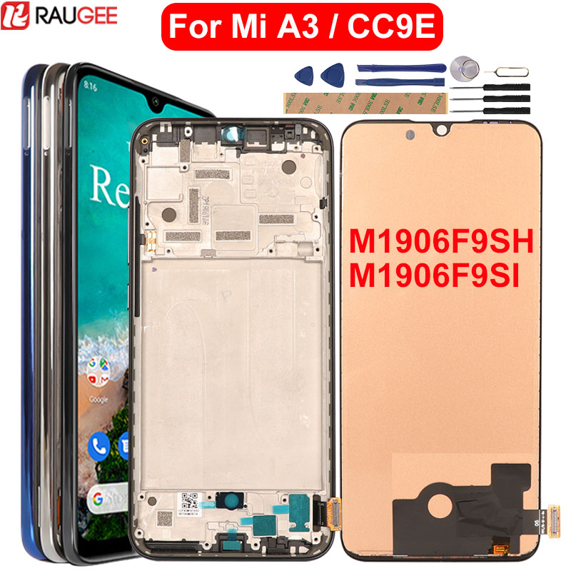 LCD For Mi A3 Touch Screen Display With Frame Repalcement Screen For Xiaomi Mi A3 LCD(China)