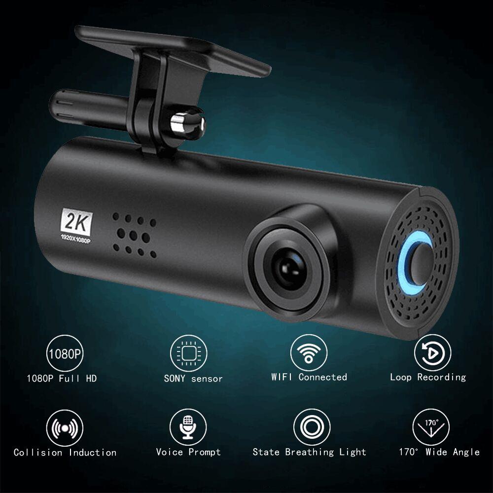 Автомобильный видеорегистратор 2K, широкоугольный Автомобильный видеорегистратор 1080 HD, автомобильная камера ночного видения, скрытый виде...