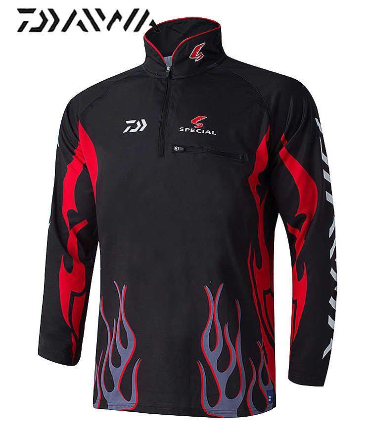 Daiwa Fishing Clothing Camisa Pesca UV UPF>50 Breathale Sunscreen Quick-drying Anti-UV Outdoor Sportswear Long Sleeve Shirts
