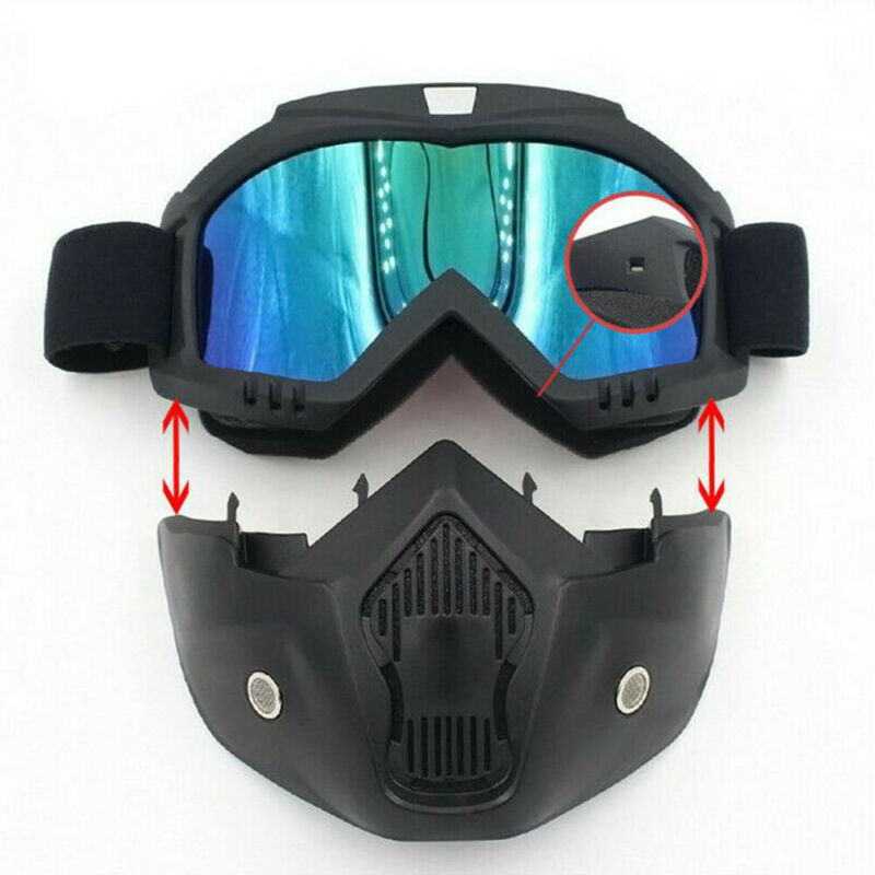 Men Women Windproof Motocross Protective Glasses Safety Goggles Ski Snowboard Mask Snowmobile Skiing Goggles With Mouth Filter