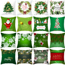 45x45 Christmas Pillow Cover Cushion Case Toss Pillowcase Hidden Zipper Closure Pillows Christmas Style Pattern Pillowcase Decor hidden christmas
