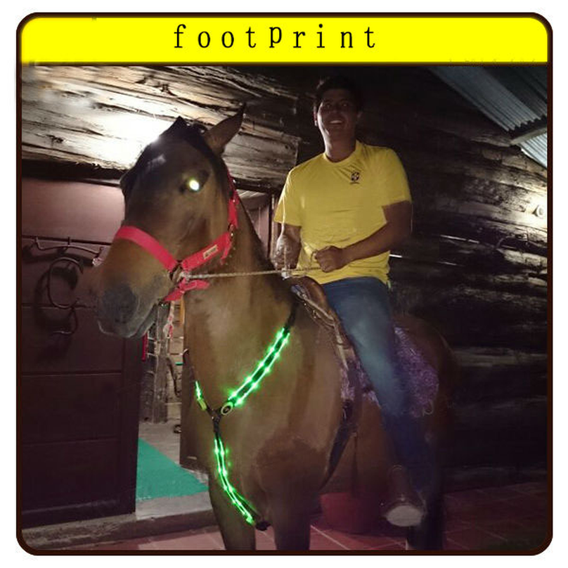 LED Horse Bridle Halter Visibility Tack Horse Riding Equestrian Safety Gear In Night LED Horse Collar LED Lights Chest Belt 2019