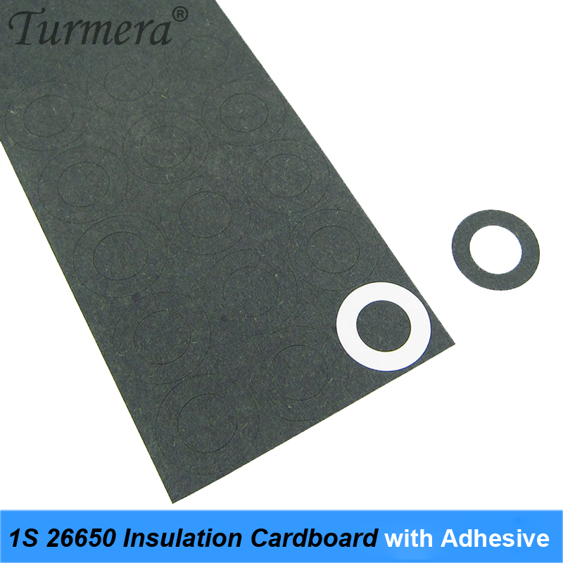 45Pieces 1S 26650 Battery Insulation Cardboard With Adhesive For 26650 Battery Pack Cell Insulating Glue Patch Positive     AU08