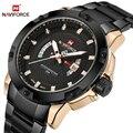 Мужские часы Топ люксовый бренд NAVIFORCE мужские полностью стальные часы кварцевые часы Аналоговые водонепроницаемые спортивные армейские во...