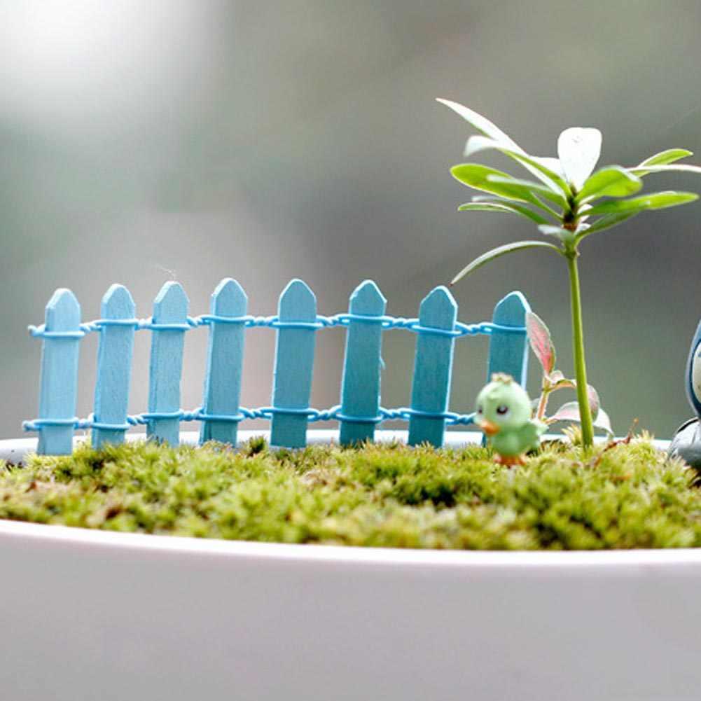 5pcs Terrarium Ornament Mini Fence Barrier Plant Pot Decor Micro Dollhouse