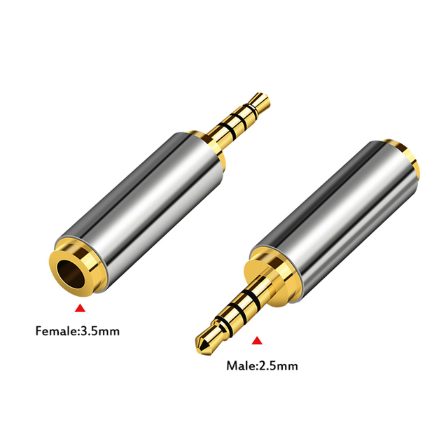 1pcs 3.5 mm to 2.5 mm Audio Adapter 2.5mm to 3.5mm Male Female Plug Connector for Aux Speaker Cable Headphone Jack 3.5 to 2.5