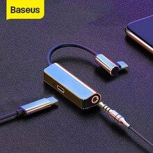 Baseus L53 кабель Переходник USB C на 3,5 мм с разъемом подачи внешнего сигнала aux адаптер usb USB Type C Удлинительный кабель с PD 18W быстрое зарядное устройство для зарядки forSamsung ForHuawei