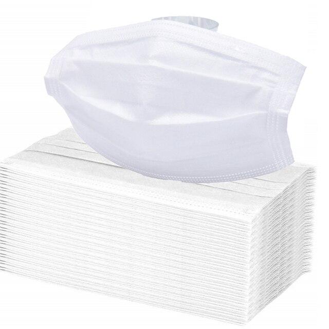 50PCS Men Women Medical Mouth Mask Cotton Anti Dust Mask Mouth Mask Windproof Mouth-muffle Bacteria Proof Flu Face Masks 3