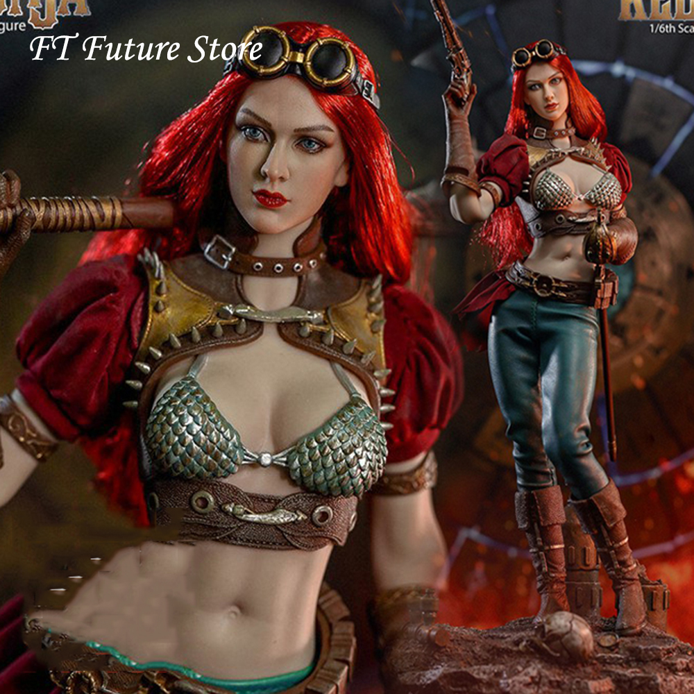 In Stock PL2019-140A/B BLeague 1/6 Steam Punk Red Sonja Action Figure Head Body Clothes Weapon Full Set Doll Model for Fans Gift