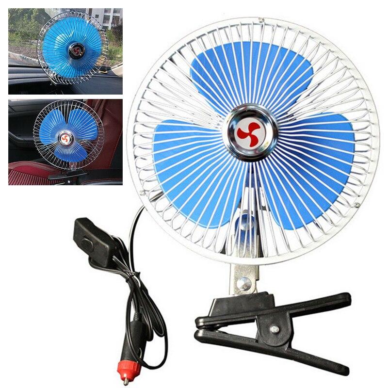 12V 8 zoll Tragbare Fahrzeug Auto Auto Fan Oszillierende Lkw Dashboard Tragbare Clip-auf Kühlung Auto Zigarette Leichter stecker Fan