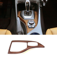 Car Styling For bmw X1 E84 2013 2015 Carbon fiber Central control Gear Shift Panel Gear Sticker Covers trim Interior Accessories