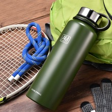 Get more info on the Sports bottle 600/800 / 1100 / 1500ML large capacity outdoor travel vacuum insulation pot 304 stainless steel portable mug