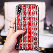 Bling Glitter Luxury Phone Cover Case For iPhone XR XS MAX Diamond Silicone 6 6S 8 7 Plus Shining Colorful Cases