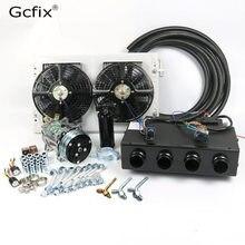 Kit de compresor de aire acondicionado para coche, camioneta, Tractor, excavadora, autocaravana, piezas de CA, 12V, 24V A/C