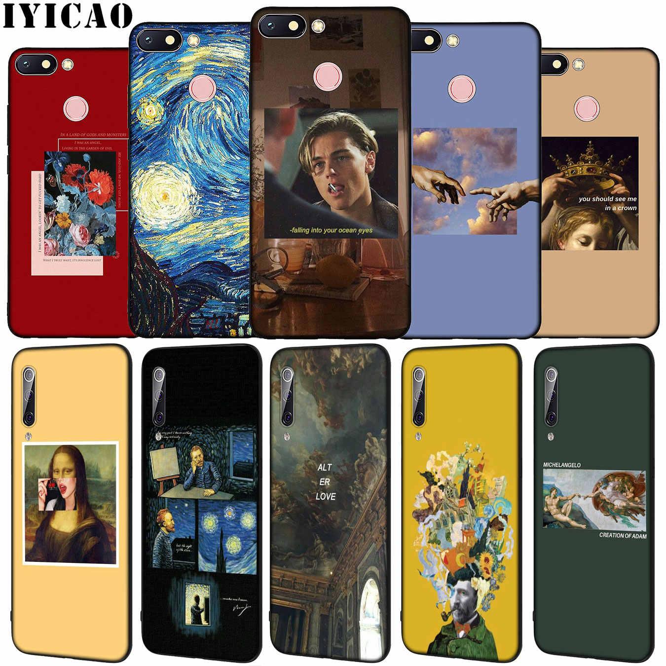 アート美的ゴッホモナリザソフトシリコーン電話ケース xiaomi Redmi 8A 7A 6A 5A K20 S2 4A 4X 注 8 7 6 プロ 5 プラスカバー