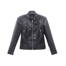 Новинка года; стильное приталенное однотонное женское кожаное пальто из искусственной кожи; модная повседневная кожаная куртка для похудения; ; под заказ