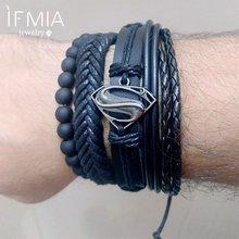 Кожаный браслет ifmia мужской винтажный плетеный в стиле панк