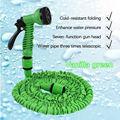 25-100 FT 3 Times Expandable Garden Magic Hose Flexible Pipe Expanding Spray Gun Garden Hose Reliable Pocket Water Pipe 7in1