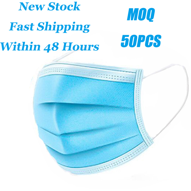 Stock! Disposable Face Mask Flu Protection Mask 3 Layers Anti Dust Breathable Mouth Masks Eyelash Extension Application