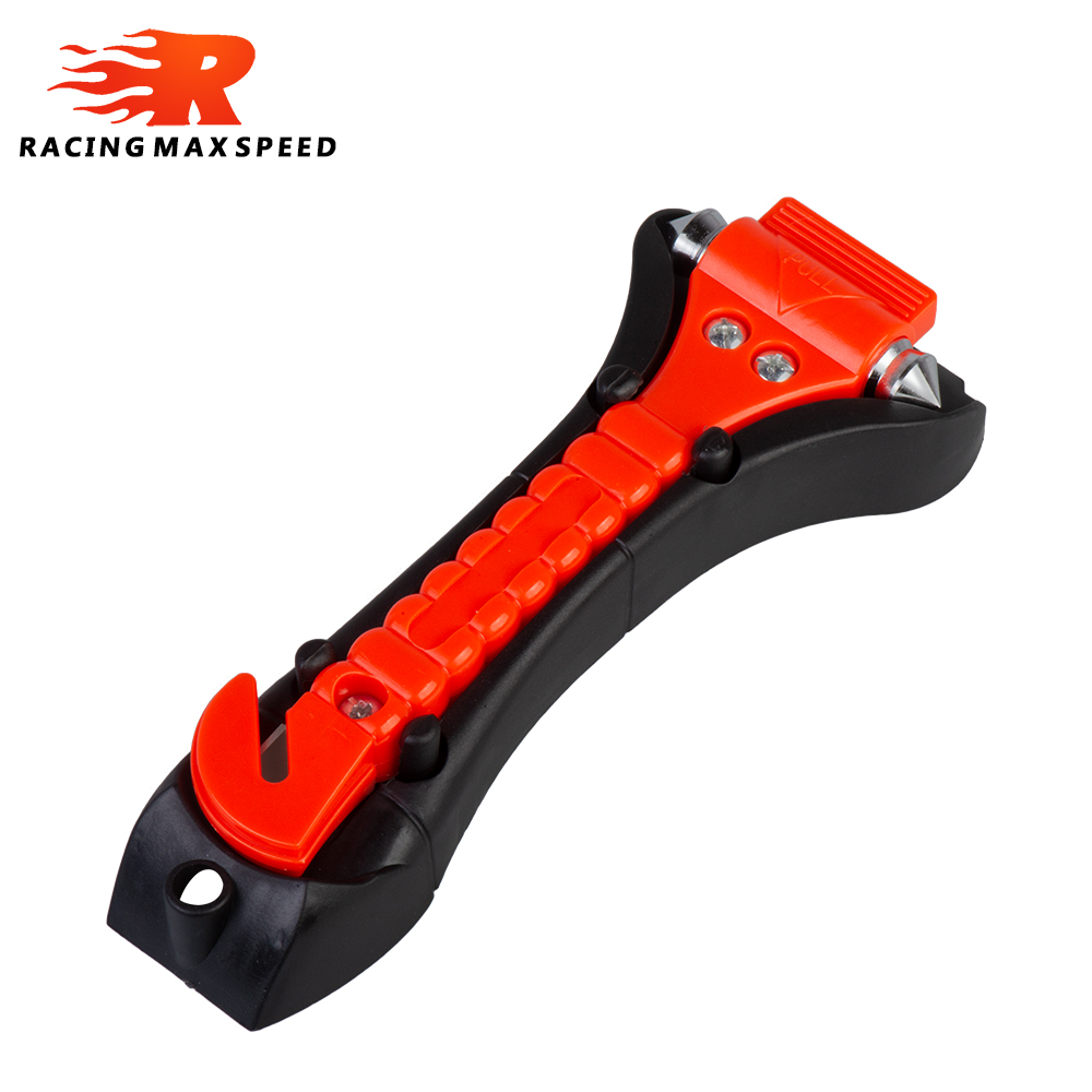 1PCS Survival Safety Hammer Camping Driving Car Seat Belt Cutter Emergency Escape Hammer to Break Window Glass RED