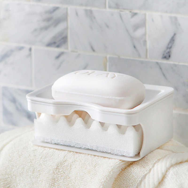 LEDFRE ฟองน้ำสบู่จานผู้ถือสบู่จานล้างฟองน้ำห้องครัวสนับสนุน szappan คอนเทนเนอร์สบู่