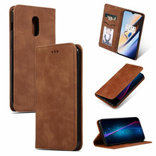 Luxury Leather Phone Flip Case for Oneplus 6T Oneplus 7 Oneplus 7 Pro Fashion Cover Kickstan With Card Pocke Anti-knock Plain(China)