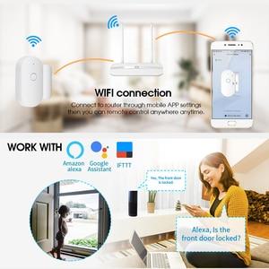 Image 4 - Towode 1/3/5Pcs WIFI Sensore Porta TUYA APP di Controllo di Sicurezza della Porta Finestra di Apertura del Sensore Magnetico Senza Fili compatibile con Alexa