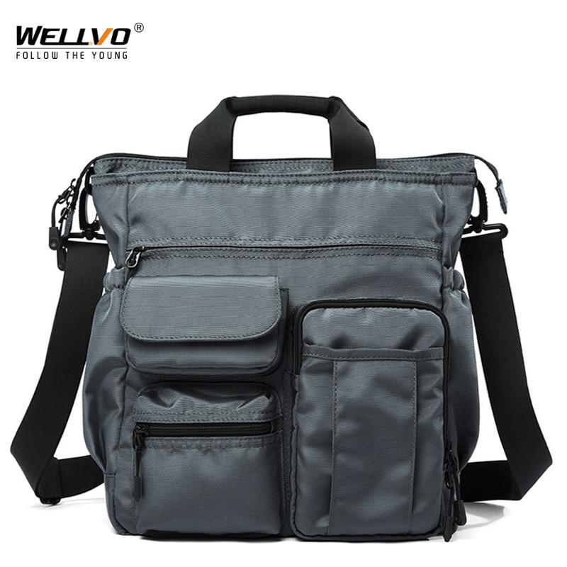 Fashion Office Bag For Men Satchels Waterproof Handbag Mini Laptop Tote Bag Multi Pocket Men's Business Messenger Bags XA283ZC