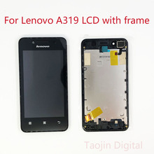 For Lenovo A319 Display Screen Touch Digitizer A319 Display Screen Replacement Parts For Lenovo A319 LCD p770 lcd display screen digitizer accessories replacement parts for lenovo p770 smartphone free shipping track number