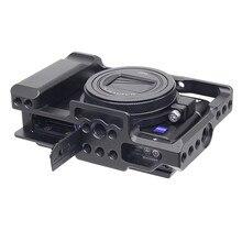 Alüminyum alaşımlı kamera kafesi koruyucu kılıf için Sony RX100 M7 VII 7 hızlı bırakma plakası sabitleyici adaptörü w/ 1/4 iplik delik