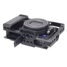 Aluminium Legierung Kamera Käfig Schutzhülle für Sony RX100 M7 VII 7 Quick Release Platte Stabilisator Adapter w/ 1/4 gewinde Löcher