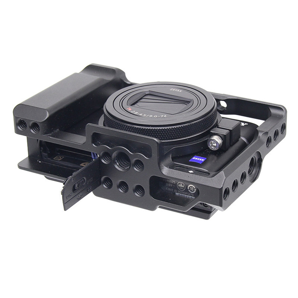 Aluminum Alloy Camera Cage Protective Case for Sony <font><b>RX100</b></font> M7 VII 7 Quick Release Plate Stabilizer Adapter w/ 1/4 Thread Holes image