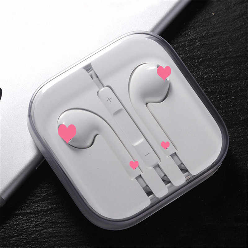 3.5 Mm Wired Earphone Bass Sport In-Ear Earphone dengan Mic Headset Auriculares untuk Xiaomi iPhone MP3 PS4 Putih Earbud