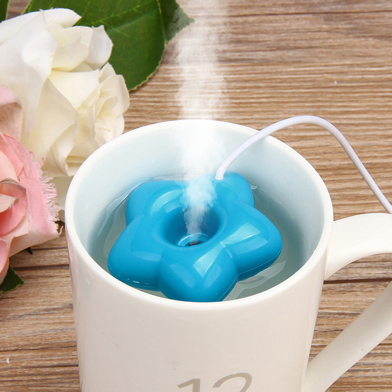 New Fashion Mini USB Donut Humidifier Air Purifier Aroma Diffuser Maker Steam Portable Office Home