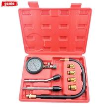 1Set Cylinder Leak Down TesterCompression Leakage Detector Kit Set Petrol Engine Gauge Tool Double Gauge System Automobile Tools