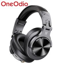 Oneodio fusão bluetooth5.0 sobre a orelha fones de ouvido estéreo com fio/sem fio profissional estúdio dj fones de gravação do motor fone de ouvido